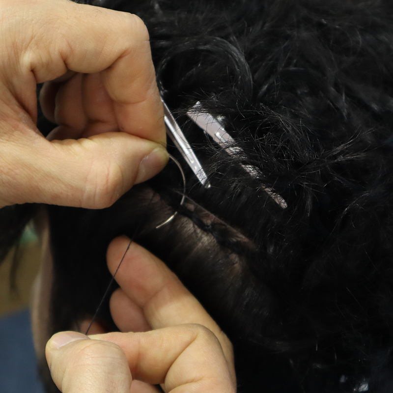 weaving system protez saç erkek